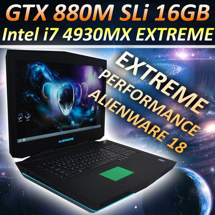 Alienware 18 i7-4930MX 3.9GHz, GTX 880M SLi, 256 SSD, 32GB RAM, M17X R5 M18X 17