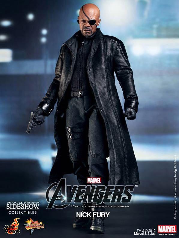Figura Los Vengadores (The Avengers). Nick Fury, 30cm. Sideshow Collectibles
