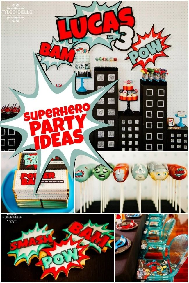 boy's superhero birthday party ideas www.spaceshipsandlaserbeams.com
