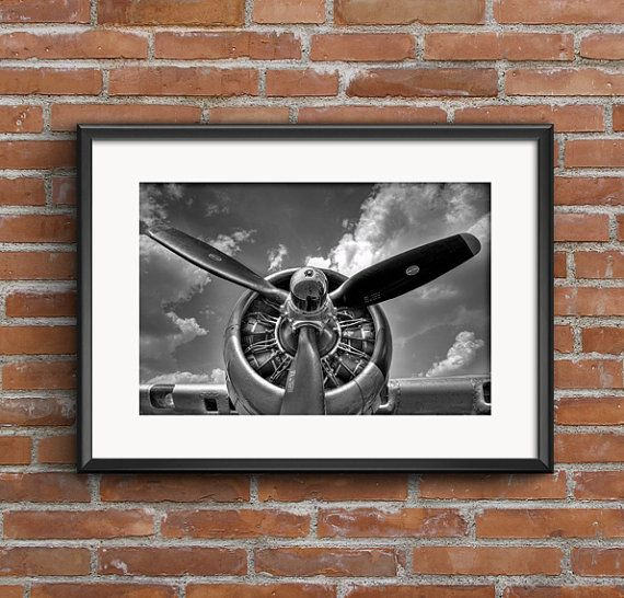 Aviation Decor Aircraft Propeller Airplane Art by Madphotografia
