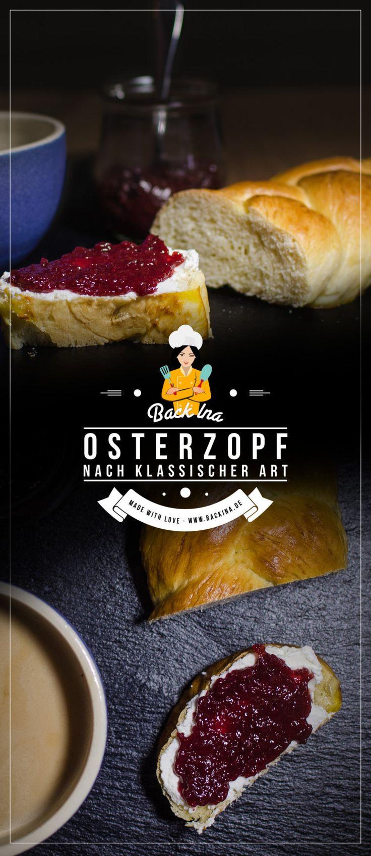 Klassischer Osterzopf aus Briocheteig mit wenig Butter | Backina.de