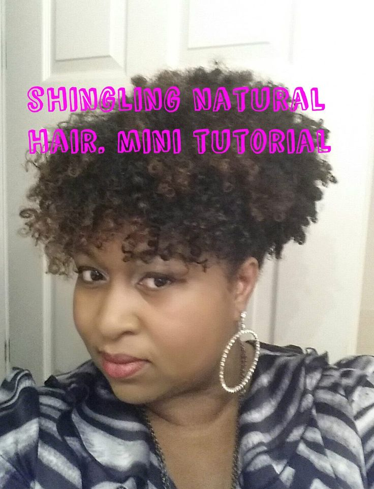 SHINGLING NATURAL HAIR | SHINGLING 4B HAIR USING ECO STYLER GEL