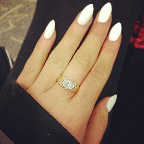 white almond nails nailed it pinterest the white