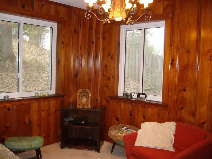 Before Renovation The Knotty Pine Den With Previous Owner