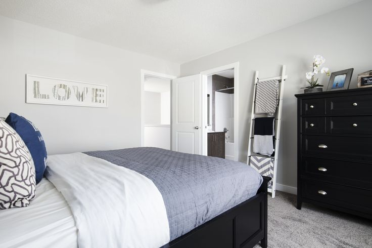 Owner's bedroom in Creations by Shane Homes Arbor Duplex Showhome in Legacy in southeast Calgary #bedroom #ownersbedroom #masterbedroom #mastersuite
