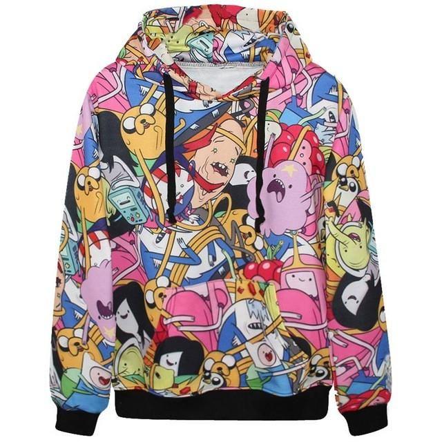 Adventure Time Hoodie  #basslaces   ✨  http://basslaces.com/products/cartoon-hoodie  #adventuretime #love #festivalfashion #edmlifestyle #musicfestivals #ultra #outfitgoals #edmlife #trippy #clothes #edc #new #hat #dope #edm #edmgirls #bestoftheday #ravegear #rave #raves #ravewear