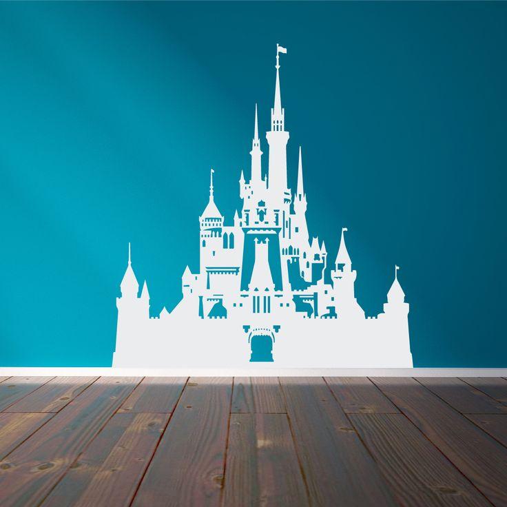 Best 25 disney mural ideas on pinterest for Disney castle mural