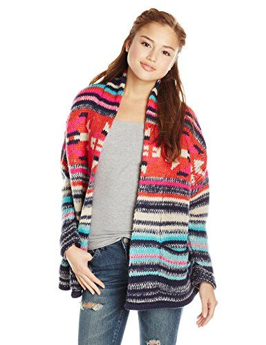 Billabong Juniors' Eye Spy You Printed Cardigan Sweater