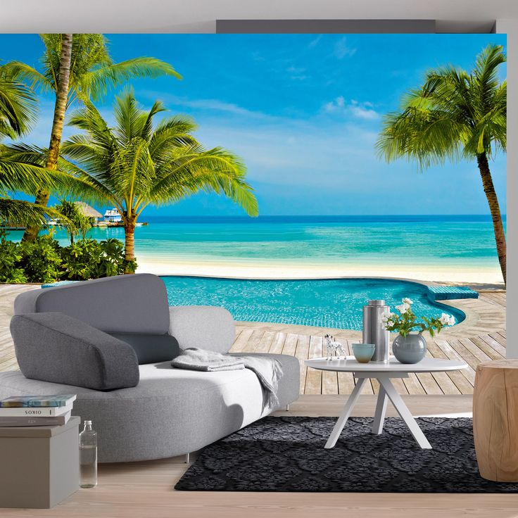 Ideal Decor Pool 144u0027 x 100 Wall