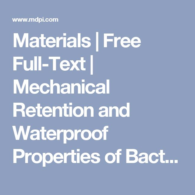 Materials  | Free Full-Text | Mechanical Retention and Waterproof Properties of Bacterial Cellulose-Reinforced Thermoplastic Starch Biocomposites Modified with Sodium Hexametaphosphate | HTML