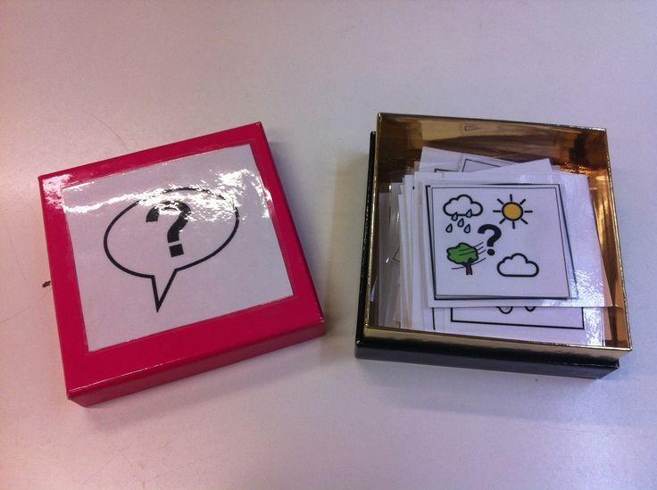 Hace unos años empecé a elaborar unas tarjetas utilizando los pictogramas de Arasaac para crear preguntas. Los iba a utilizar con una alumn...