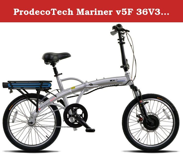 "ProdecoTech Mariner v5F 36V300W 1 Speed Electric Bicycle 10Ah Samsung Li Ion, Brushed Aluminum, 17"" / One Size. With its Brushed Aluminum, satin clear finish and 20-inch rim frames, the ProdecoTech Mariner is one of the cleanest looking and most compact e-bikes in its class. Weighing in at just 42 pounds, up to 25 percent lighter than its competitors, the Mariner is lightweight, portable, rust-resistant and easily stored, which is great for those on the go. When activated, the..."