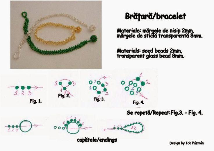 Free beading patterns. Blog despre tehnici de margelit. Ingyenes gyöngyfűző minták. beadwork school, curs de margelit, beadwork tutorial.