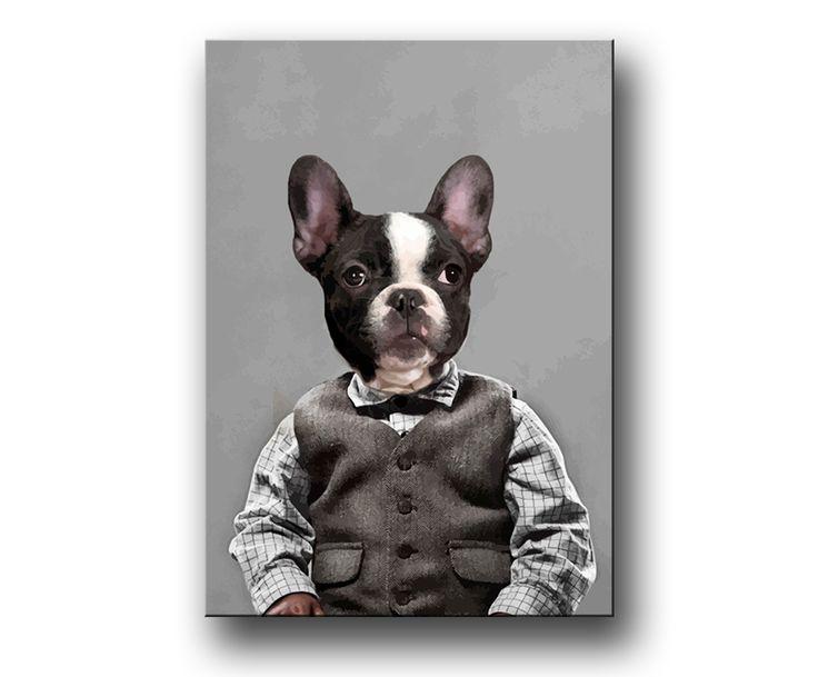 """Fransk Bulldogg"" / prints / tavla / posters"