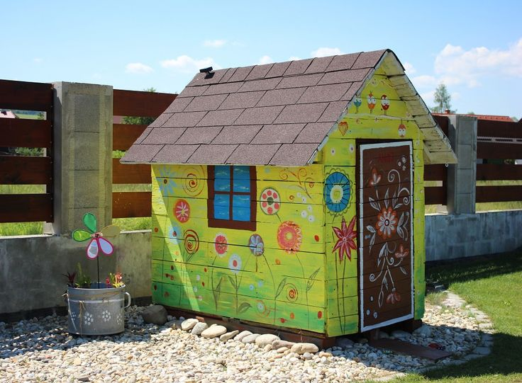Little wooden playhouse for the kids.