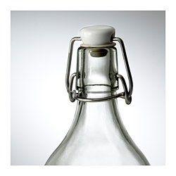 IKEA - KORKEN, Bottle with stopper, Tight-fitting stopper prevents leaks.