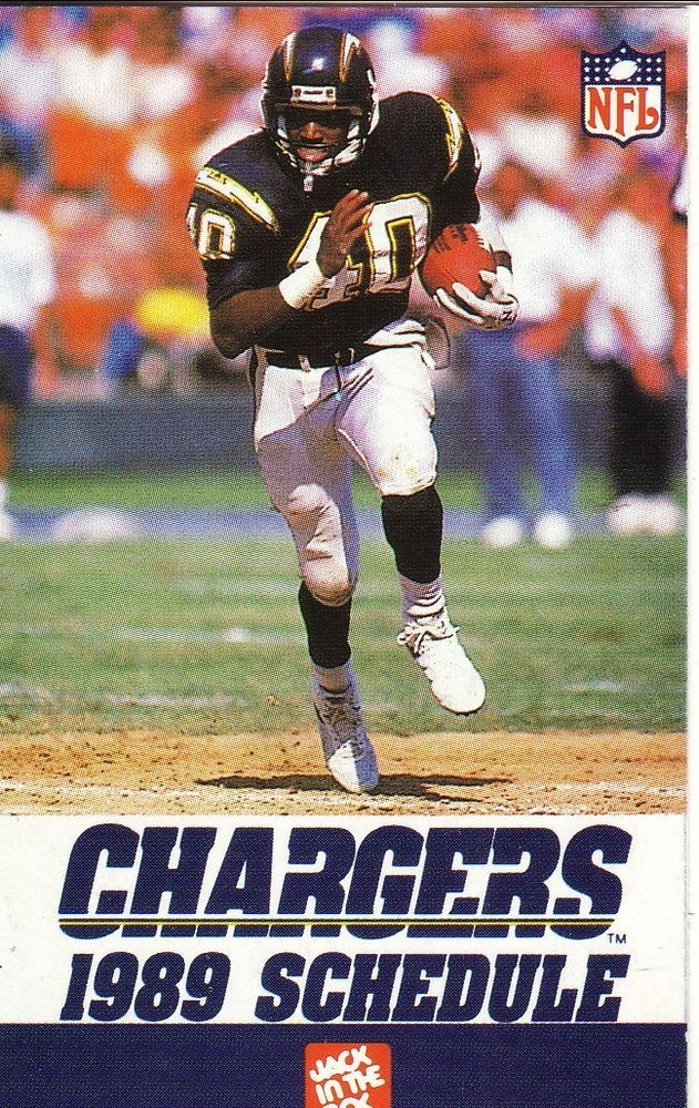 Rb Gary Anderson Running Backs San Diego Chargers