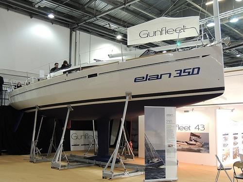 Elan 350 Sailing Yacht at the Tullett Prebon London Boat Show