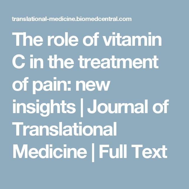 The role of vitamin C in the treatment of pain: new insights | Journal of Translational Medicine | Full Text