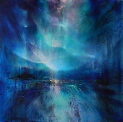 """Annette Schmucker, """"Nordlicht II"""" With a click on 'Send as art card', you can send this art work to your friends - for free!"""