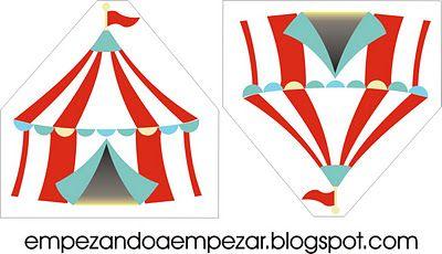 Imprimibles para circo-fiesta
