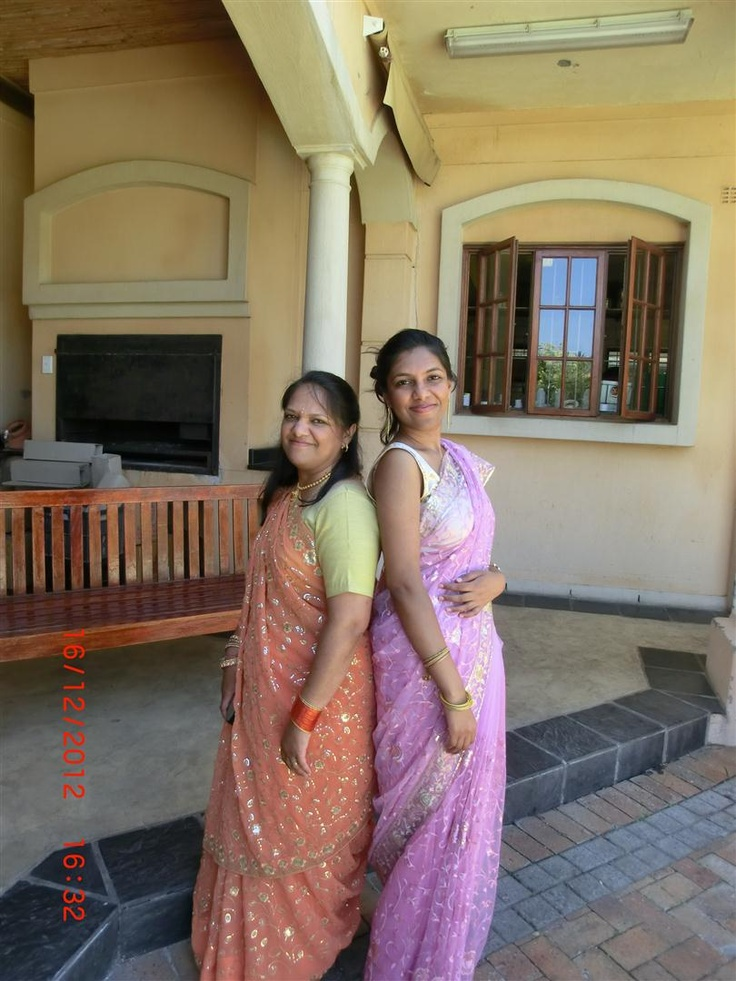 This is a photo of myself, Karishma, and my mom, Anita. The photo was taken a few months back at my cousin's wedding. We were so busy with all the wedding festivities that week that this was the only day I could actually grab my beautiful mom and take a picture with her.