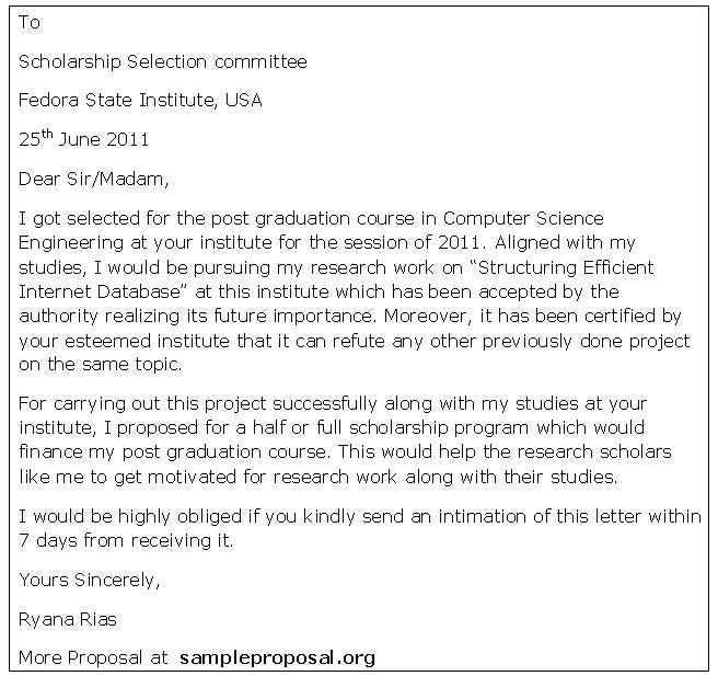 Scholarship Letter Sample Scholarship Essay Examples