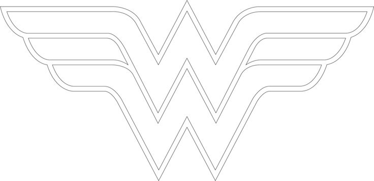 how to draw wonder woman logo outline