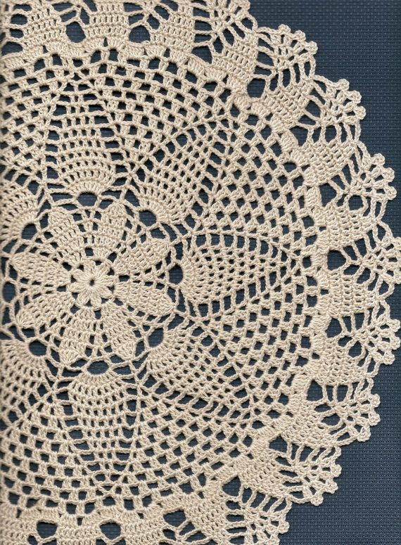 Hand crochet beautiful doily, made from cream crochet cotton. Diameter about 13.5 (34cm). Will be adorable decoration at your home, will look great on any table. Perfect as a gift or just to treat yourself. Would like this doily in different color, just let me known which color you looking for and I try to do my best making it to you. If you have any questions please contact me.