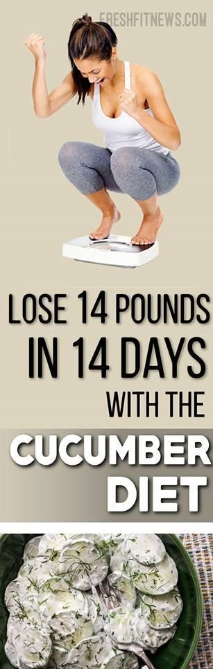 Lose 14 Pounds In 14 Days With The Cucumber Diet   Fitness Blog