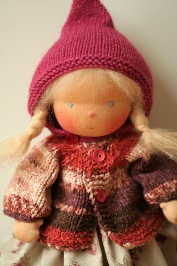 Organic Waldorf doll Eve16 by danielapetrova on Etsy