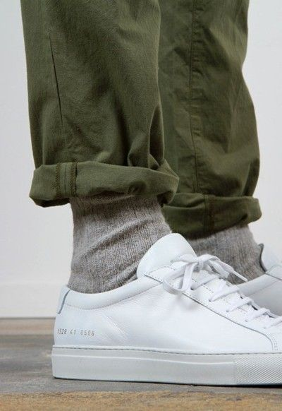 Common Projects Achilles Low. Orslow army pants.