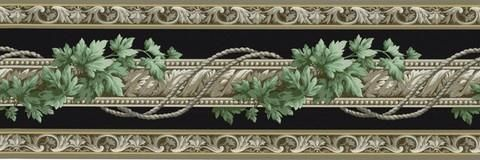 Architectural Ivy Wallpaper Border - BC1580459 from Design by Color/Black book