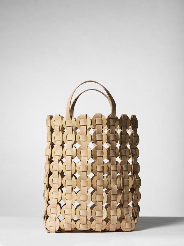 Woven Leather Bag - contemporary chic accessories // Mia Cullin