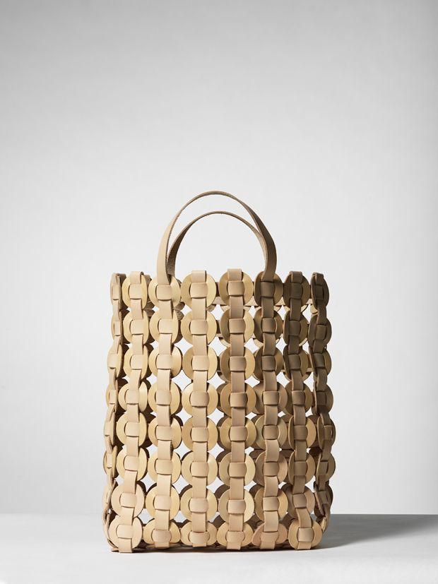 Woven Leather Bag - contemporary chic accessories // Mia Cullin