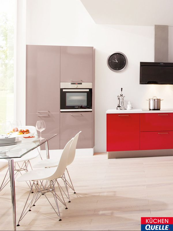 14 best Rote Küchen images on Pinterest | Contemporary unit kitchens ...