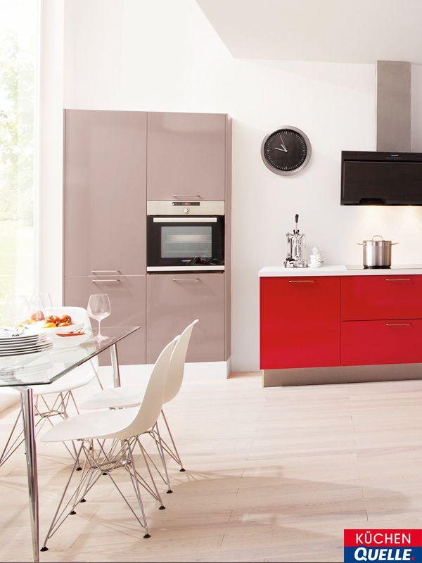 14 best Rote Küchen images on Pinterest Best kitchen cabinets - moderne modulare kuche komfort