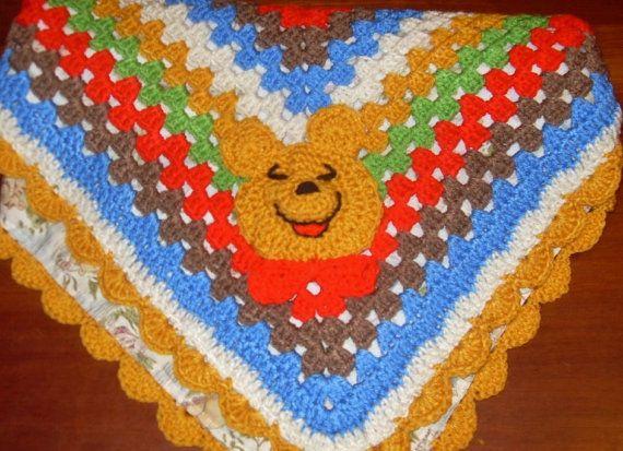 Crochet Winnie The Pooh Baby Blanket Reversible By