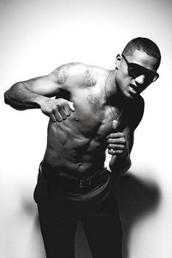 The ever-fabulous Kevin-Prince Boateng at AC Milan/D's shoot.