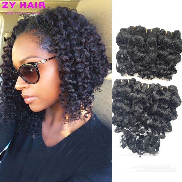 Mùa hè ngắn sâu sóng Với Closure 7A Brazil sâu Weave cheveux tóc bresilien avec Humanhair ngắn sâu BOB sóng tóc phong cách
