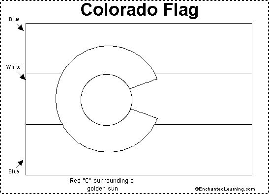1000 images about colorado on pinterest flags flag for Colorado state flag coloring page