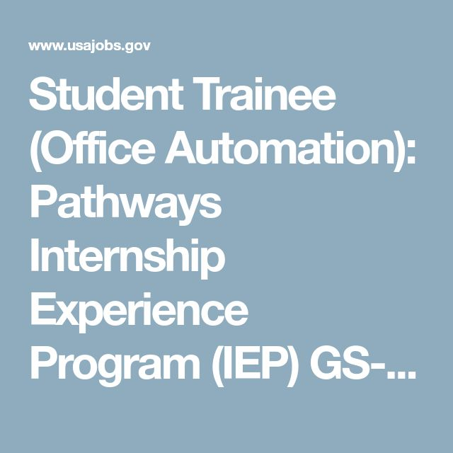 Student Trainee (Office Automation): Pathways Internship Experience Program (IEP) GS-03 Check out this offer for a faxmachine trial account!