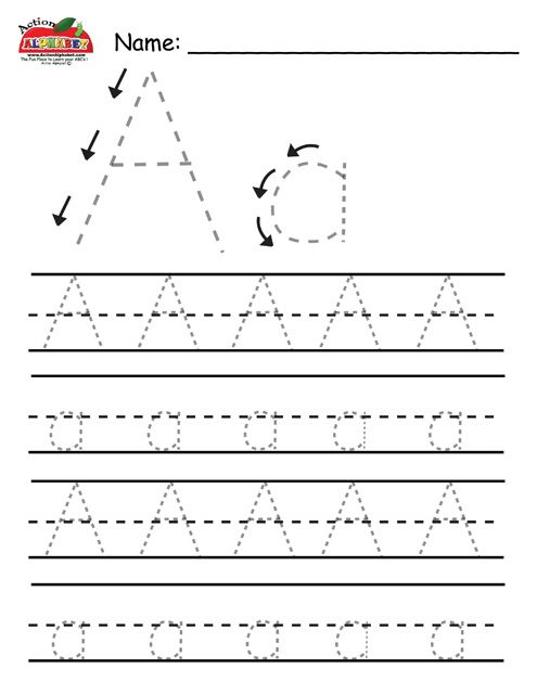 Letter tracing pages