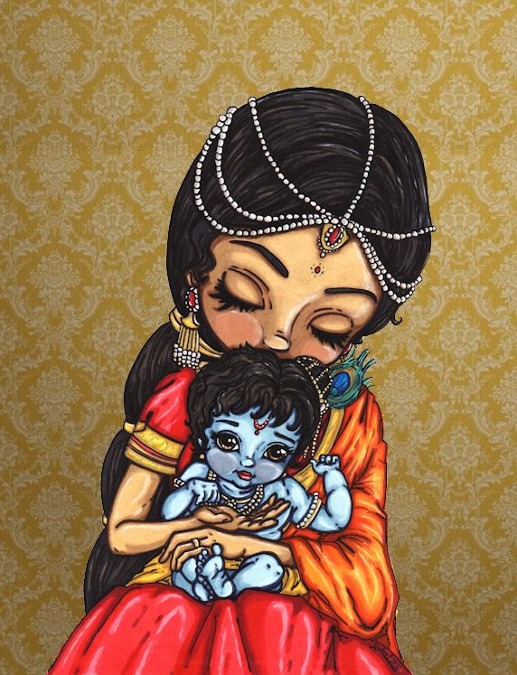 Baby Krishna by *JadeDragonne on deviantART