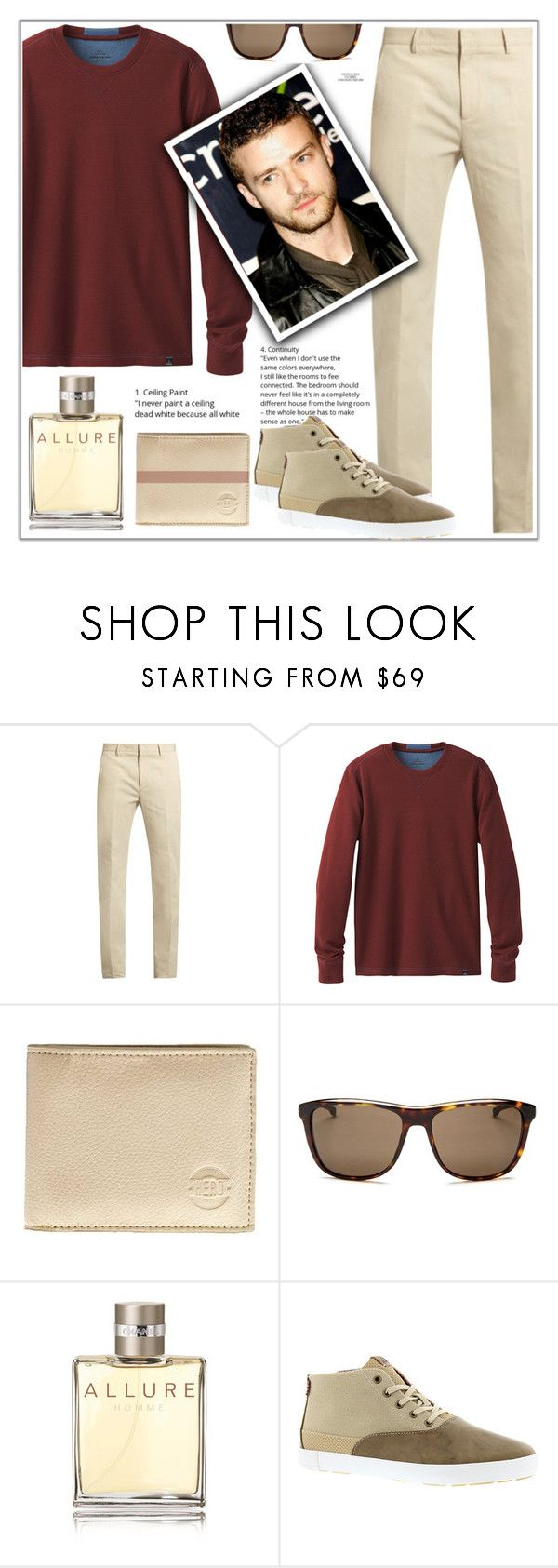 """""""Sem título #627"""" by soleuza ❤ liked on Polyvore featuring Calvin Klein Collection, prAna, Hero, HUGO, Chanel, Rika, Ben Sherman, men's fashion and menswear"""