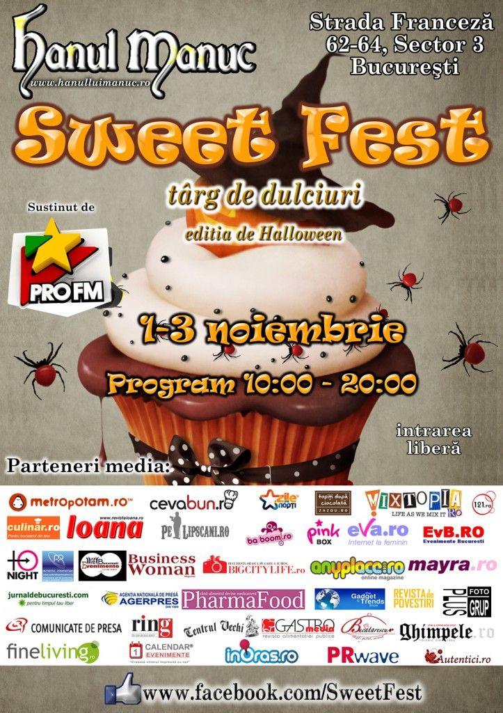 Targ de dulciuri gourmet Sweet Fest (1-3 noiembrie 2013) in Bucuresti, la Hanul lui Manuc