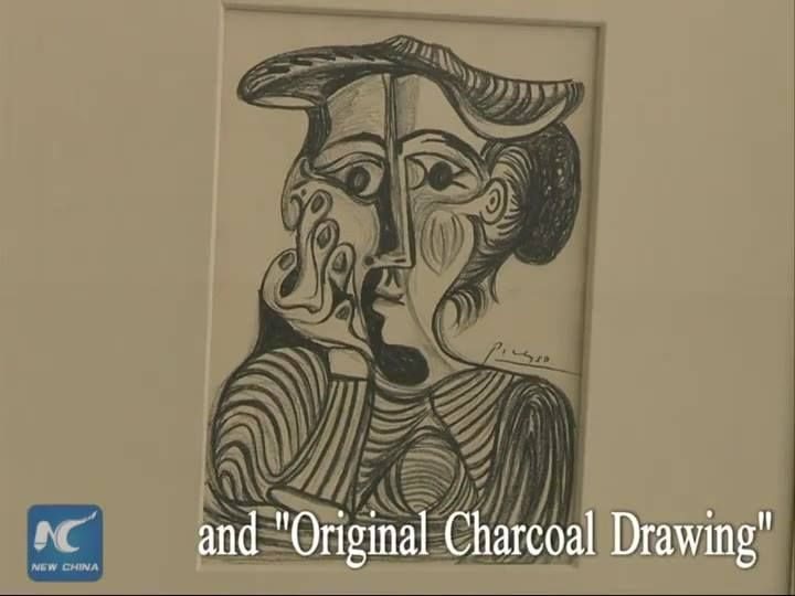 """Art collectors and fans now have a rare chance to admire original Picasso pieces and other incredible oil paintings in a Chinese city. A total of 54 world famous paintings including """"La Tauromaquia"""" and """"Original Charcoal Drawing"""" by Pablo Picasso and other works by famous painters such as Marc Chagall and Andy Warhol are on display during a four-day art exhibition in Xiamen, southeast China's Fujian Province."""