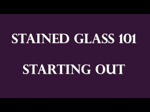 How to Make Art Out of Stained Glass : How to Cut Small Glass Pieces for Stained-Glass Projects - YouTube
