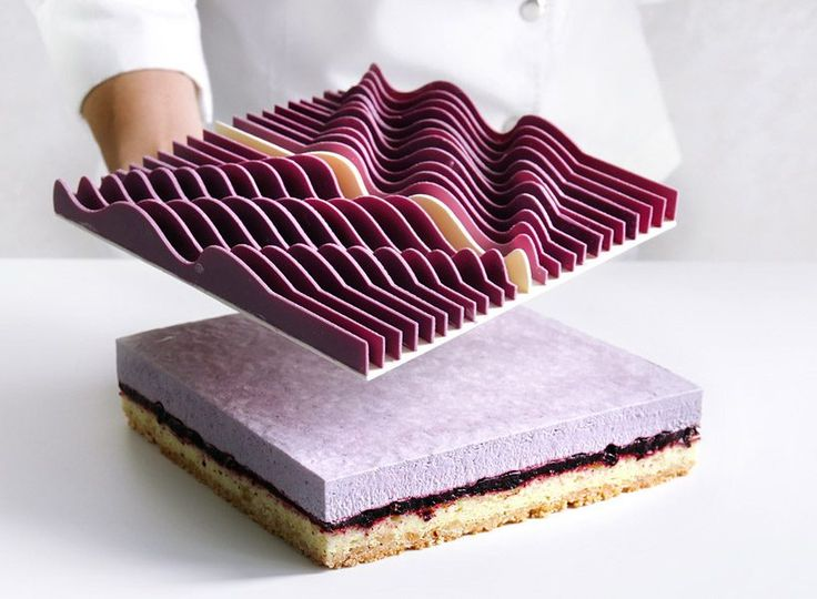 dinara kasko + jose margulis create geometrical kinetic tarts out of 3D moulds