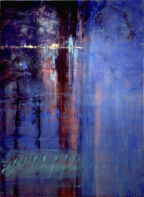 "Sacrificial Grace by Makoto Fujimura Private Collection Mineral Pigments, Gold on Kumohada 90x66"" 1997"